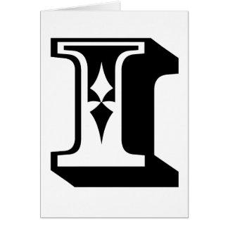 """i"" Eye Alphabet Letter Word Text Tee Card"
