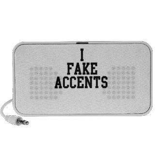 I Fake Accents Notebook Speaker