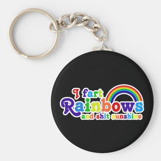 I Fart Rainbows and Shit Sunshine Grobe Basic Round Button Key Ring