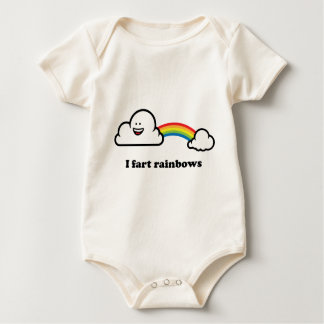 I fart rainbows baby bodysuit