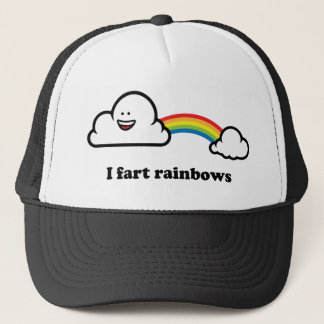 I fart rainbows trucker hat