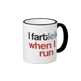 I FARTlek when I Run - Funny FARTlek Coffee Mugs