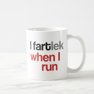 I FARTlek when I Run © - Funny FARTlek Runner Gift Basic White Mug
