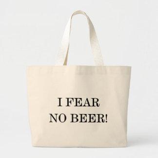 I FEAR NO BEER! JUMBO TOTE BAG