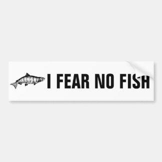 I Fear No Fish Salmon Bumper Sticker