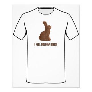 I Feel Hollow Inside Chocolate Easter Bunny Flyers