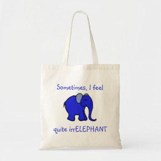 """I feel irrelephant"" Slogan Cute Blue Elephant"