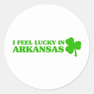 I feel lucky in Arkansas Round Sticker