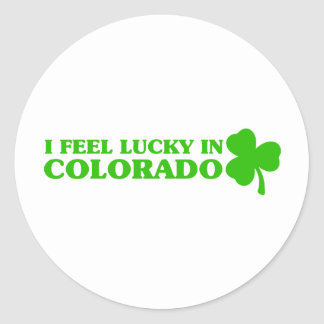 I feel lucky in Colorado Stickers