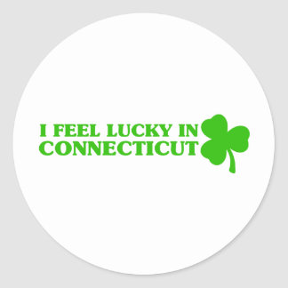 I feel lucky in Connecticut Stickers