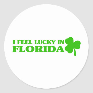 I feel lucky in Florida Classic Round Sticker