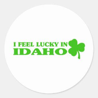 I feel lucky in Idaho Sticker