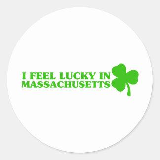 I feel lucky in Massachusetts Stickers