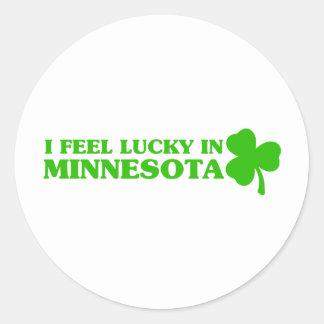 I feel lucky in Minnesota Sticker