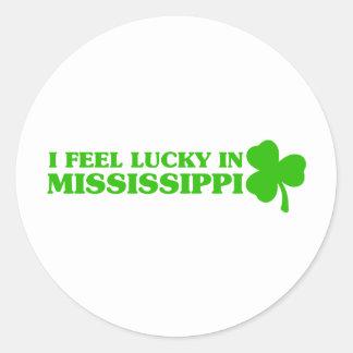 I feel lucky in Mississippi Sticker