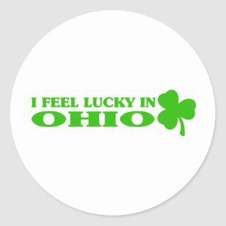 I feel lucky in Ohio Stickers