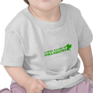 I feel lucky in Oklahoma T-shirts