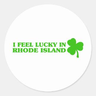 I feel lucky in Rhode Island Stickers