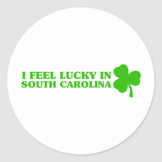 I feel lucky in South Carolina Stickers