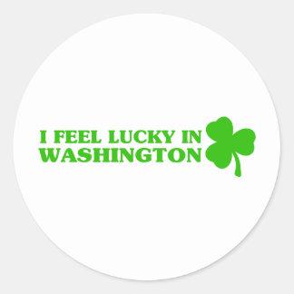 I feel lucky in Washington Sticker