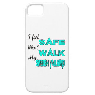 I Feel Safe With My Swedish Vallhund iPhone 5 Cases