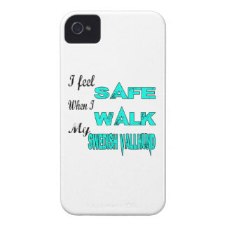 I Feel Safe With My Swedish Vallhund iPhone 4 Covers