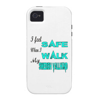 I Feel Safe With My Swedish Vallhund iPhone 4/4S Case
