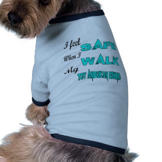 I Feel Safe With My Toy American Eskimo Dog Ringer Dog Shirt
