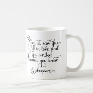 I fell in love and you smiled - Shakespeare Coffee Mug