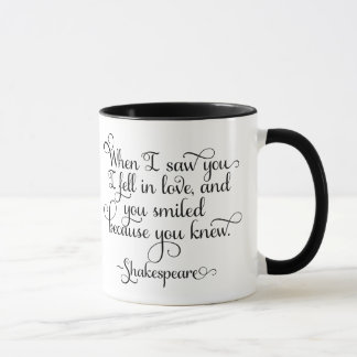 I fell in love and you smiled - Shakespeare Mug
