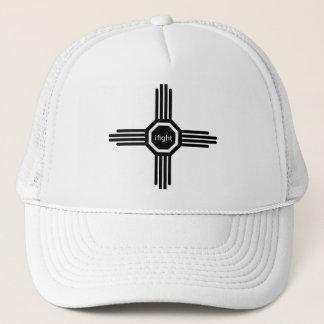 i fight-black trucker hat
