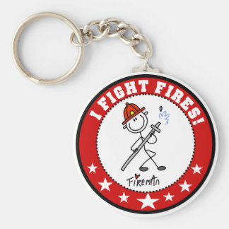 I Fight Fires Firefighter Key Ring