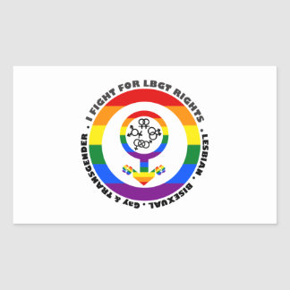 I Fight For LBGT Rights Man Rectangular Sticker