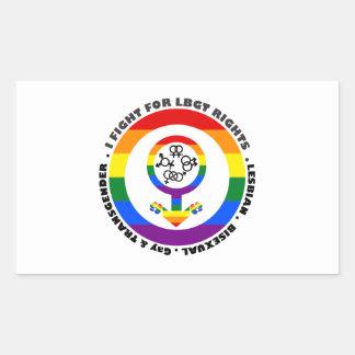 I Fight For LBGT Rights Man Rectangle Sticker