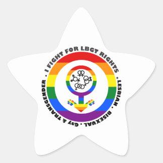 I Fight For LBGT Rights Man Sticker
