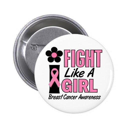 I Fight Like A Girl 1.1 Breast Cancer Pins