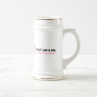 I Fight Like A Girl 6.1 Breast Cancer Beer Steins