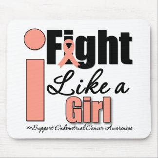 I Fight Like a Girl - Endometrial Cancer Mouse Pads