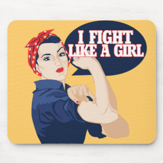 I fight like a girl mouse pads