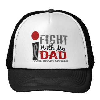 I Fight With My Dad Brain Cancer Mesh Hats