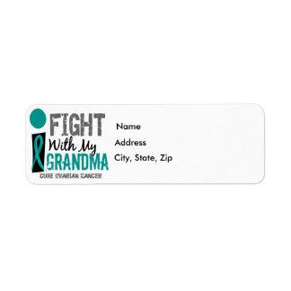 I Fight With My Grandma Ovarian Cancer Return Address Label