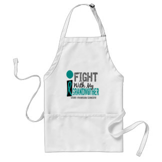 I Fight With My Grandmother Ovarian Cancer Standard Apron
