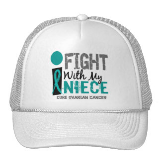 I Fight With My Niece Ovarian Cancer Mesh Hat