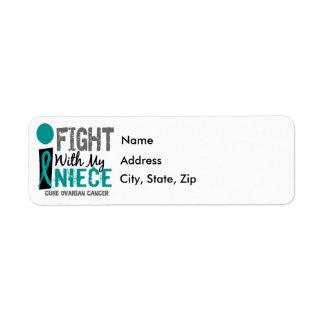 I Fight With My Niece Ovarian Cancer Return Address Label