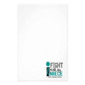 I Fight With My Niece Ovarian Cancer Personalized Stationery