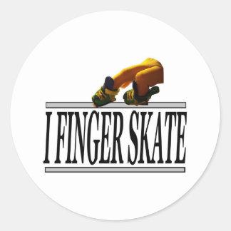 I FINGER SKATE ROUND STICKER