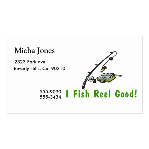 I Fish Reel Good Business Card Template
