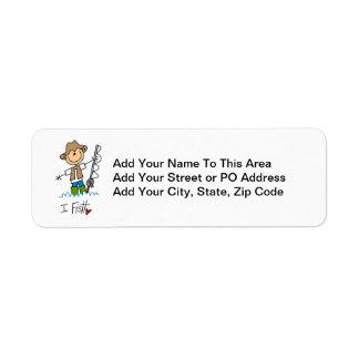 I Fish Return Address Label