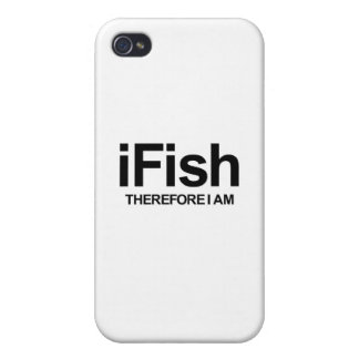 I Fish Therefore I Am Cases For iPhone 4