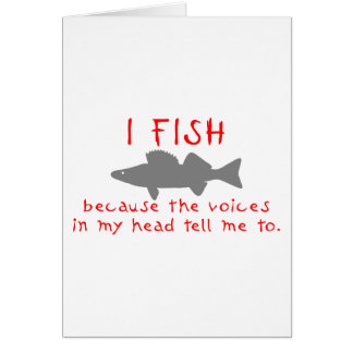 I FISH WALLEYE GREETING CARD